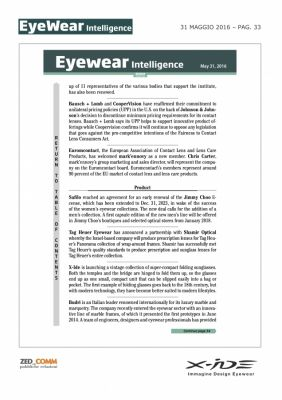 EYEWEAR INTELLIGENCE P.33