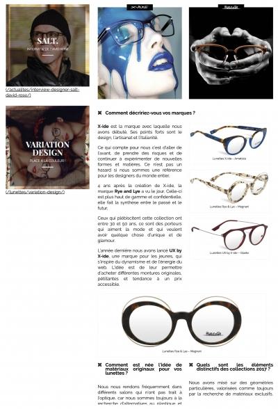 Interview d'Immagine 98 _ créateur de lunettes italien p2