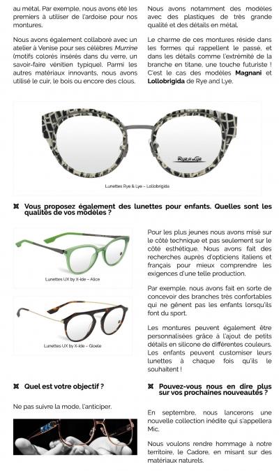 Interview d'Immagine 98 _ créateur de lunettes italien p3